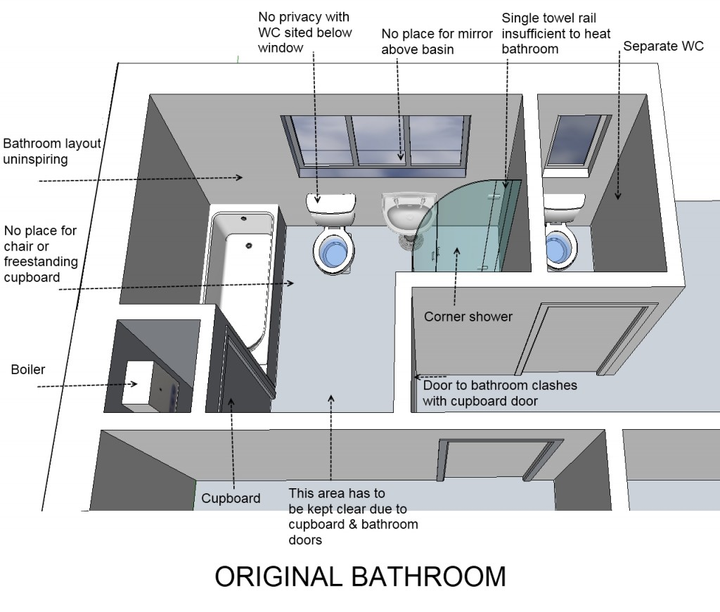 Original bathroom plan